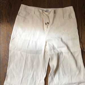 DVF White Wide-Leg Pants